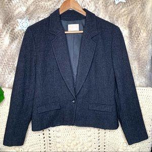 Vintage Pendleton Grey Wool Blazer Jacket